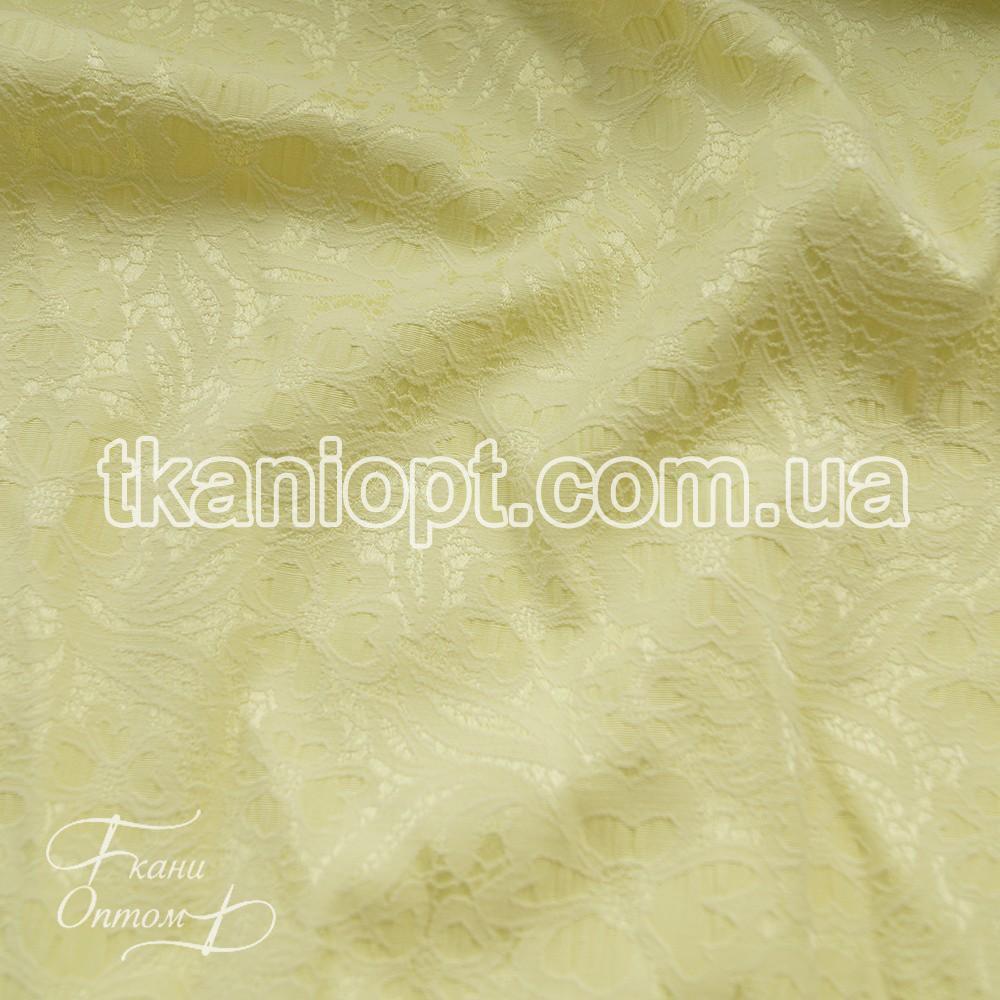 Ткань Костюмка жаккард (светло-желтый)