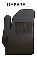 Ворсовый водительский коврик для Nissan Navara (D40) 2005-2010 (IDEA)