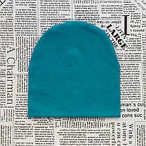 Демисезонная шапка детская 4-12 лет Бирюзовый