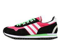 Женские кроссовки Adidas  ZX400 Hyper Pink Black White Lime Green