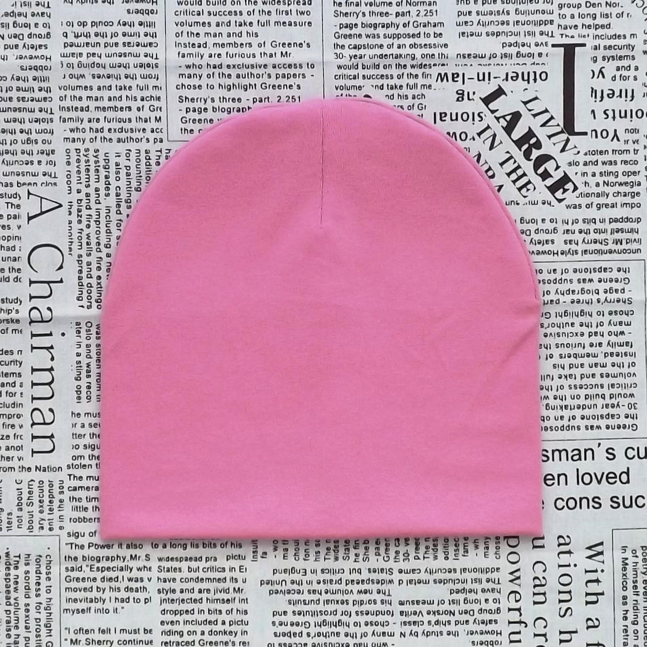 Демисезонная шапка детская 4-12 лет Розовый