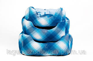 """Двосторонній лежак для собак і кішок """"ТВІСТ"""" №1, синій, 45х25х23см, фото 3"""