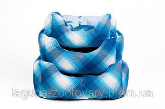 """Двухсторонний лежак для собак и кошек """"ТВИСТ"""" №1, синий, 45х25х23см, фото 3"""