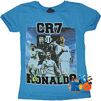 """Яркая футболка с принтом """"Ronaldo"""" , трикотаж , для мальчиков  (рост 140-152-164-176 см)(4 ед. в уп.)"""