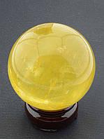 Шар из камня цитрин
