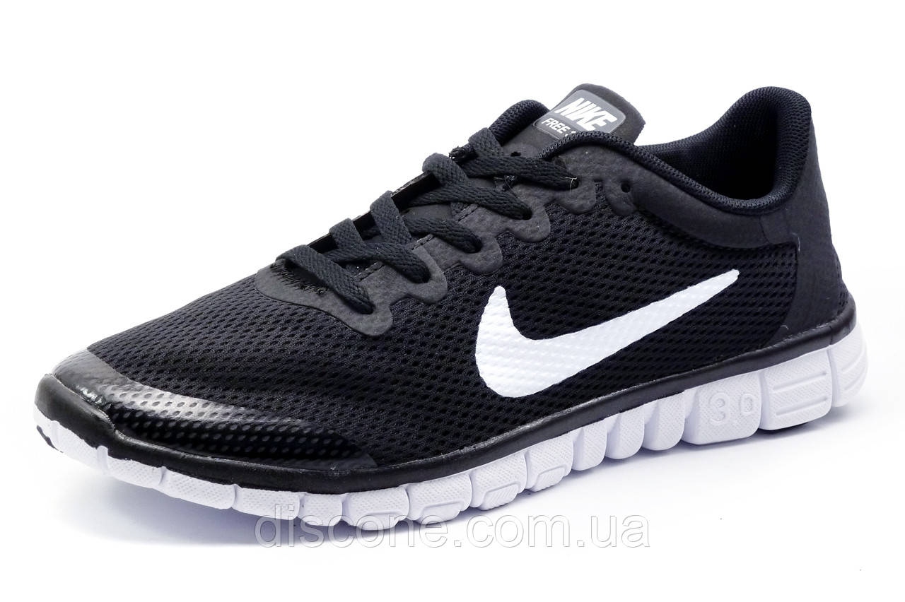 Кроссовки Найк Free Run 3.0 мужские, черные, р. 41 42 43 44 45