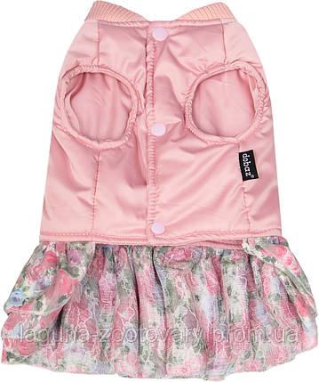 """Платье - пальто """"ШАНТЕ"""" для собак и щенков, размер  M,  розовый, фото 2"""
