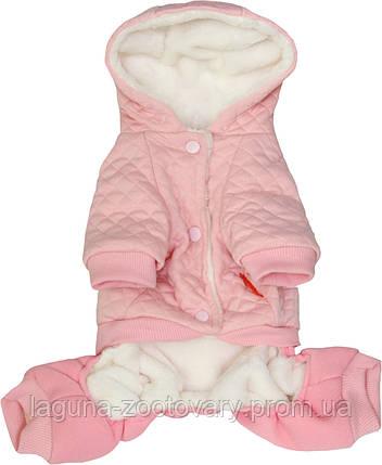 """Теплый комбинезон """"Квин"""" для собак и щенков, розовый, размеры S, M, L, XL, фото 2"""