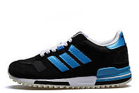 Женские кроссовки Adidas ZX700 UK Originals Black Electric Blue, фото 1