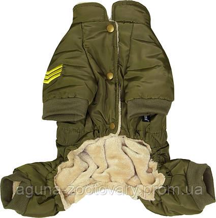 """Комбинезон """"Пилот ВВС"""" для собак и щенков, оливковый,  размер S, фото 2"""