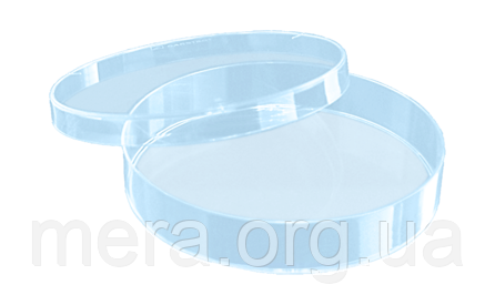 Чашка Петри 90мм, без вентиляционных отверстий, полистирол, стерильная