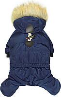 Зимний комбинезон НЕО 28/42см непромокаемый для собак, синий,(зима) размер М