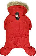 """Зимний комбинезон непромокаемый для собак """"НЕО"""", красный,(зима) размеры S, M, L, XL"""