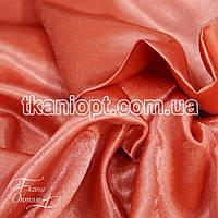 Ткань Креп сатин ( кораллово-персиковый)