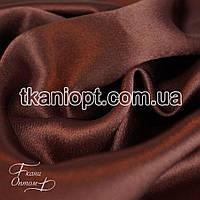 Ткань Креп сатин ( коричневый )