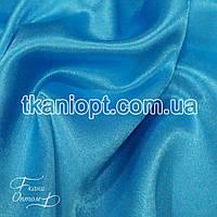 Ткань Креп сатин (Голубая бирюза)