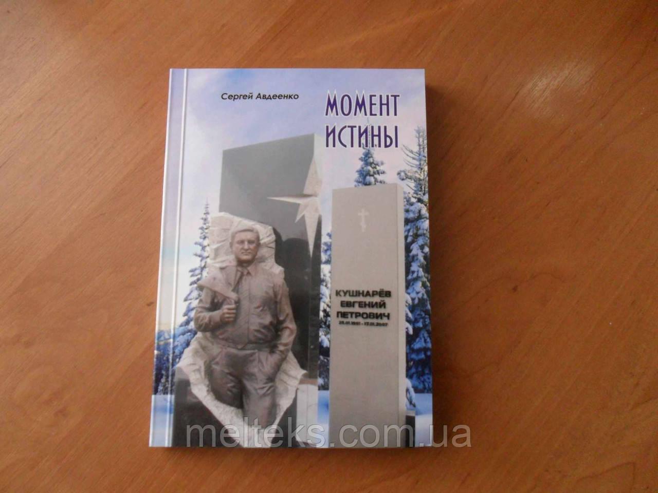 Момент истины. Жизнь и смерть Евгения Кушнарева (книга Сергея Авдеенко)