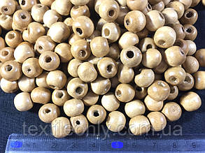 Деревянные бусины бежевые упаковка 100 шт , фото 2