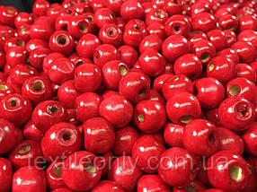 Дерев'яні намистини червоні упаковка