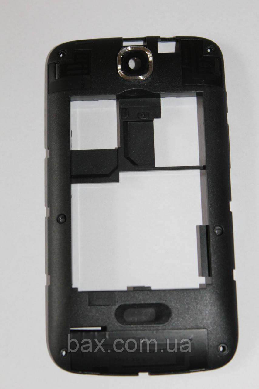 Fly IQ430 средняя часть + стекло камеры черная