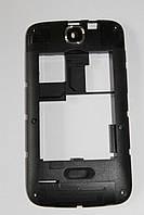Fly IQ430 средняя часть + стекло камеры черная, фото 1