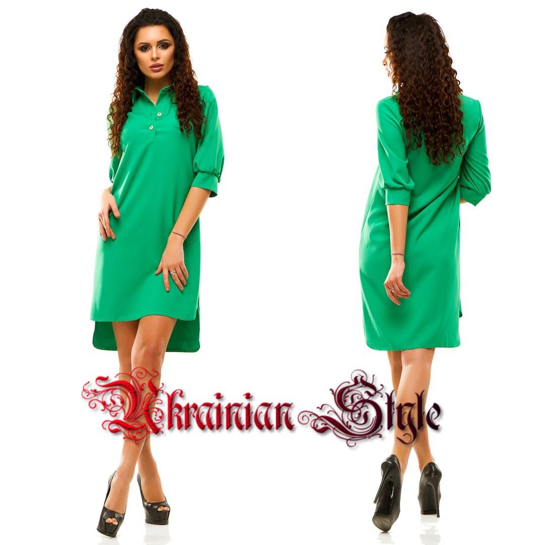 32828203005 Стильное однотонное платье