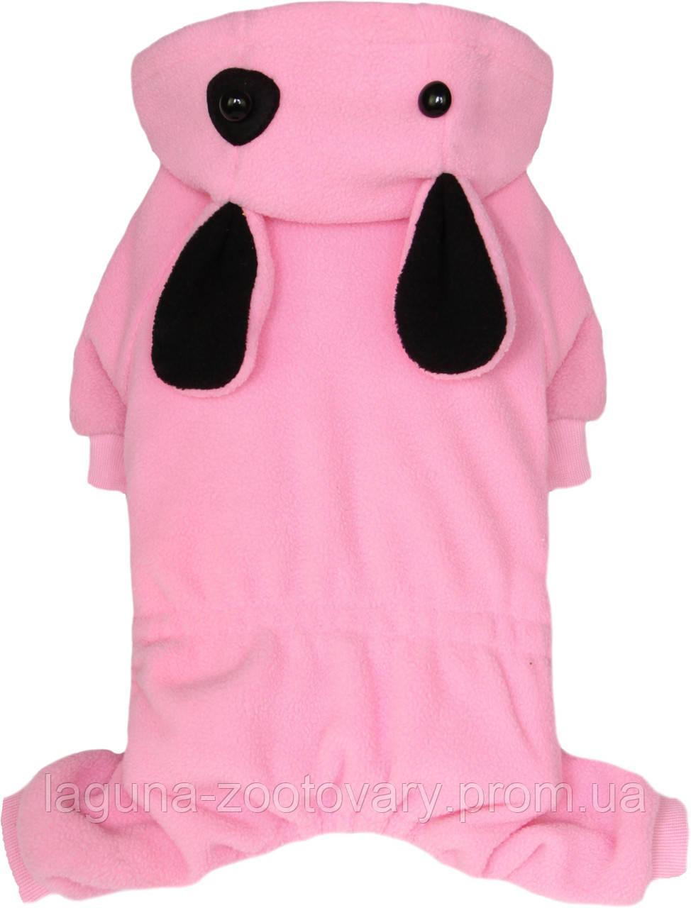 """Комбинезон """"Пятнышко"""", розовый, размеры  S,M,L,XL,2XL для собак и щенков"""
