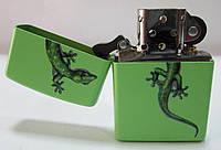 Зажигалка ZIPPO(21122.729) салатовая, матовая, рисунок - ящерица, фото 1