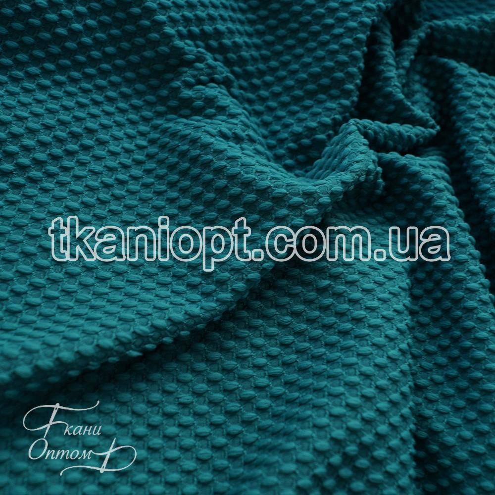 Тканина кукурудза велика стільники (бірюзовий)