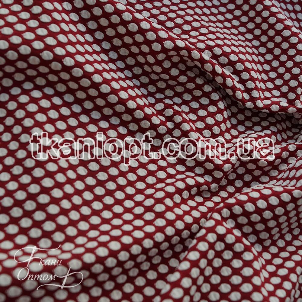 Ткань кукуруза крупная соты (бордо-белый)