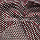Ткань кукуруза крупная соты (бордо-белый), фото 4