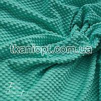 Ткань кукуруза крупная соты (зеленая мята)