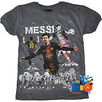 """Яркая футболка с принтом """"Messi"""" , трикотаж , для мальчика  (рост 140-152-164-176 см)(4 ед. в уп.)"""