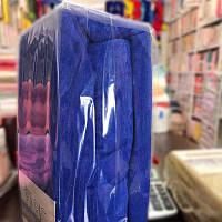 Простынь махра с наволочками 180*200 синяя