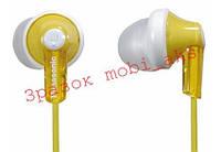 Навушники Panasonic RP-HJE118GU-Y жовті