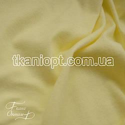 Ткань Кулир пенье в пачках 130 gsm (бледно - желтый)