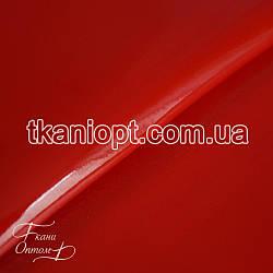 Ткань Лакированный кожзам плотный(красный)