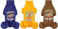 """Комбинезон """"Звездочка"""", синий, размеры S,M,L,XL,2XL, зимний, для собак"""