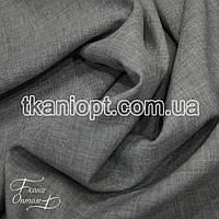 Ткань Лен габардин (серый)