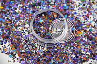 Конфетти ( пайетки ) для ногтей №010 ( Mix , галограмма)