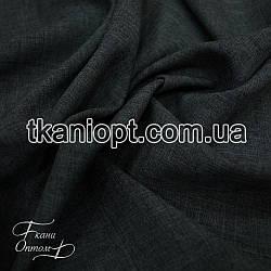 Ткань Лен габардин (темно-серый)