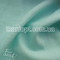 Ткань Лен натуральный (светлая мята)