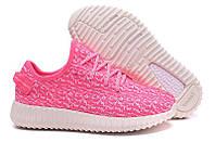 Женские кроссовки Adidas Yeezy Boost 350 Low Pink 2, фото 1