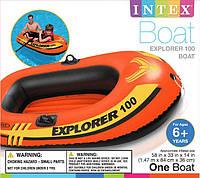 Детская надувная лодка Explorer 100 Pro Intex 58355, фото 1
