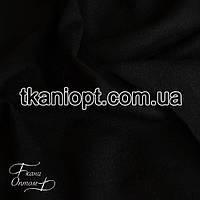 Ткань Лен натуральный (черный)