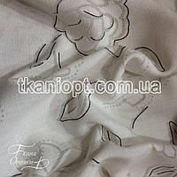 Ткань Лен органза ( цветы)