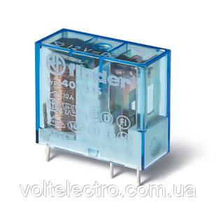 Реле миниатюрное 1CO; 10A; 24В AC; AgNi Finder 405280240000