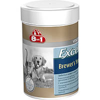 8in1 Excel Brewers Yeast витаминный комплекс с пивными дрожжами для собак.