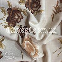 Ткань Лен принт (цветы)