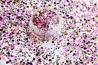 Конфетти ( пайетки ) для ногтей №013 ( Mix , галограмма)